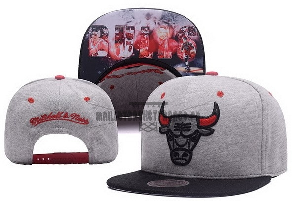Meilleur Bonnet 2017 Chicago Bulls Gris NO.01