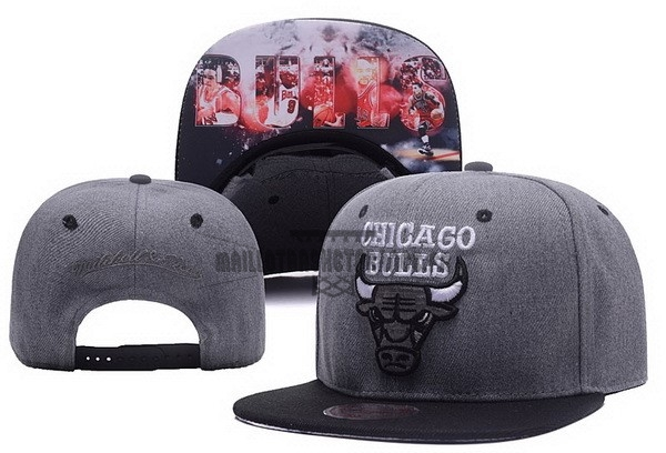 Meilleur Bonnet 2017 Chicago Bulls Gris NO.03