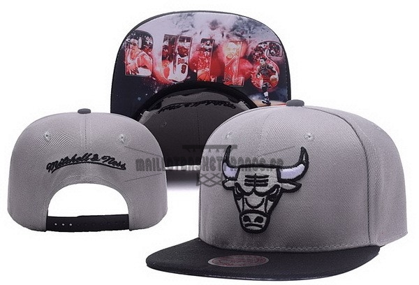 Meilleur Bonnet 2017 Chicago Bulls Gris NO.05