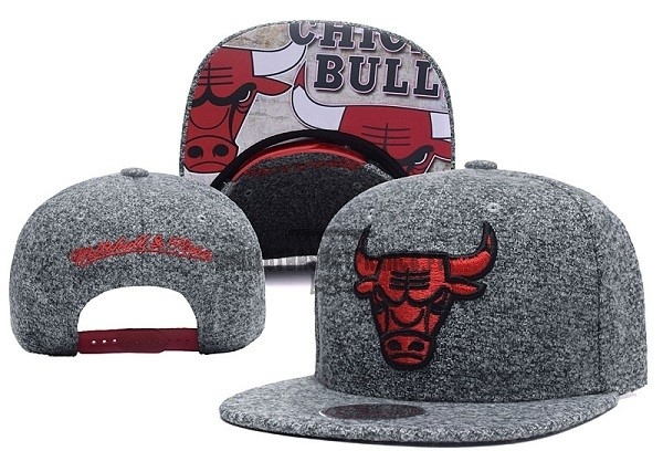 Meilleur Bonnet 2017 Chicago Bulls Gris NO.06