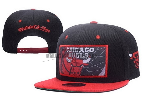 Meilleur Bonnet 2017 Chicago Bulls Rouge Noir NO.02
